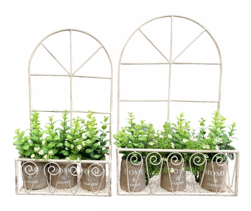KA3339 - Arch window wall planters S/2
