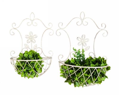 KA3343 - Ornamental wall planters S/2