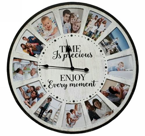 "KC5161 - Photo clock ""Time is precious"""