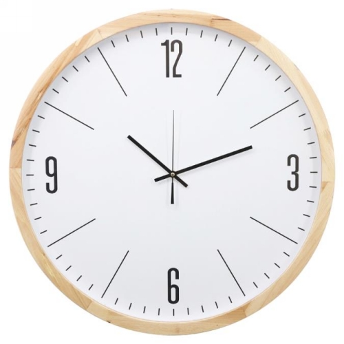 KC5169 - White faced clock w/seconds hand