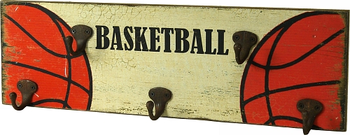 KE5031 - Basketball sign with coat hooks