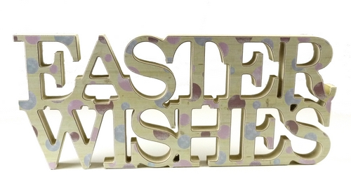 KK1509 - Easter wishes polka dot cut out