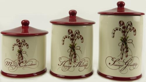 KK1732 - Ceramic Christmas canister set