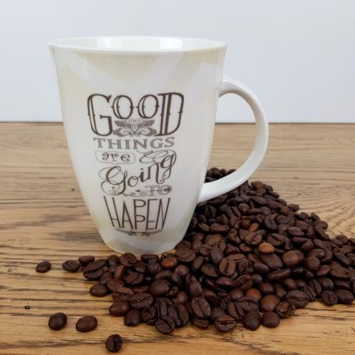 "KM2215-GO - ""Good things...Typography Mug"