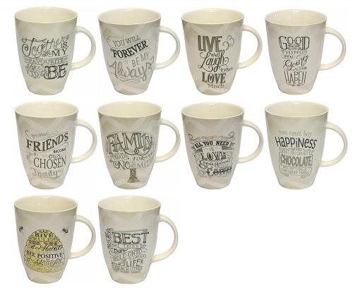 KM2215 - Typography Mug 40 pcs Pack